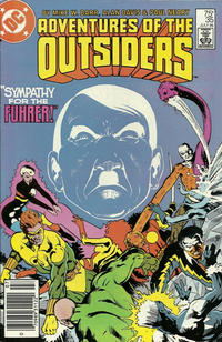 Cover Thumbnail for Adventures of the Outsiders (DC, 1986 series) #35 [Newsstand]