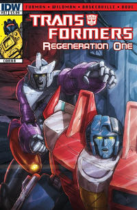 Cover for Transformers: Regeneration One (IDW, 2012 series) #87 [Cover A - Andrew Wildman]