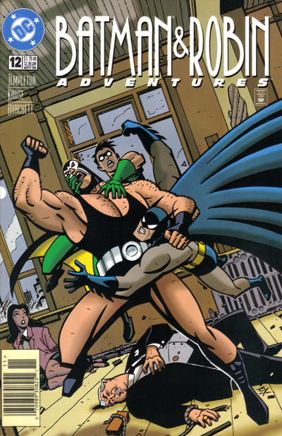 Cover for The Batman and Robin Adventures (DC, 1995 series) #12 [Newsstand Edition]
