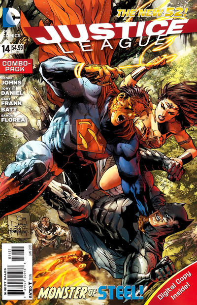 Cover for Justice League (DC, 2011 series) #14 [Tony Daniel Standard Cover]
