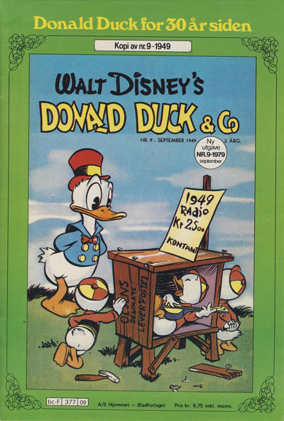 Cover for Donald Duck for 30 år siden (Hjemmet / Egmont, 1978 series) #9/1979