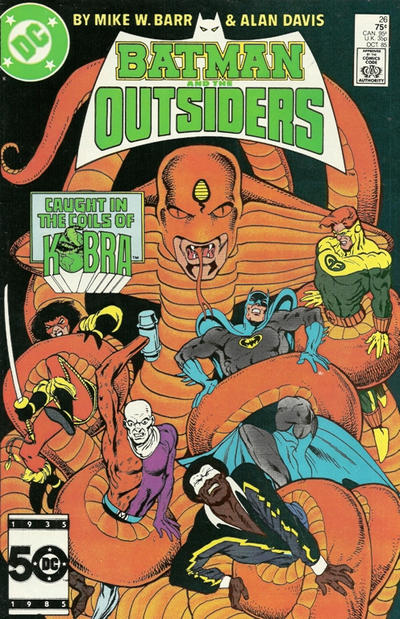 Cover for Batman and the Outsiders (DC, 1983 series) #26 [Direct Sales]