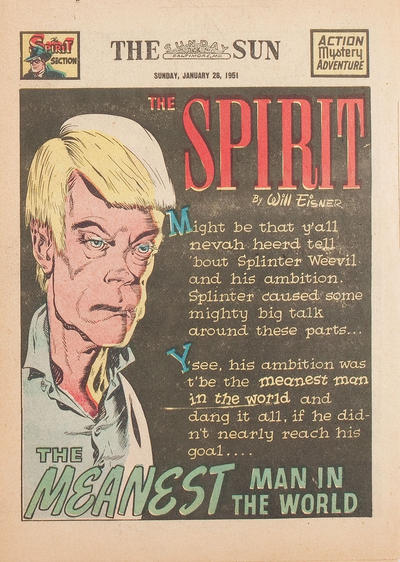 Cover for The Spirit (Register and Tribune Syndicate, 1940 series) #1/28/1951