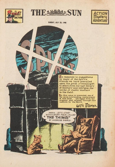 Cover for The Spirit (Register and Tribune Syndicate, 1940 series) #7/25/1948