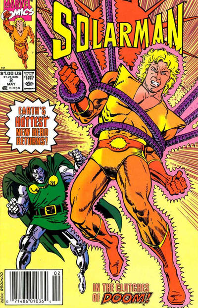 Cover for Solarman (Marvel, 1989 series) #2