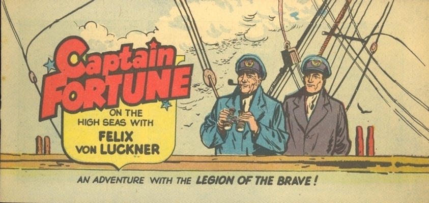 Cover for Captain Fortune On the High Seas with Felix von Luckner (Vital Publications, 1955 series)