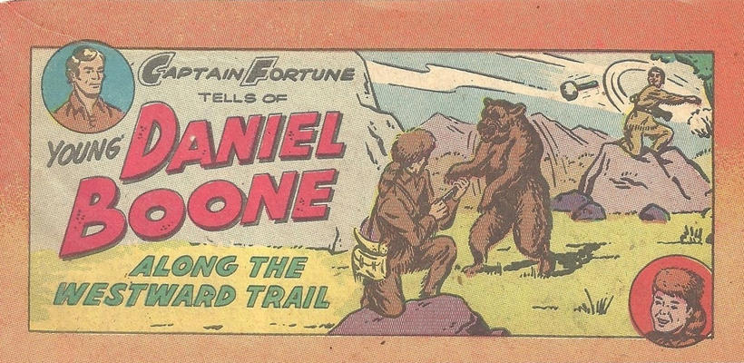 Cover for Captain Fortune Tells of Young Daniel Boone (Vital Publications, 1959 series)