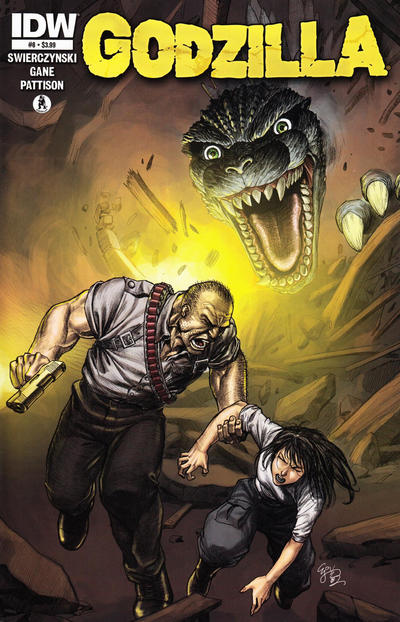 Cover for Godzilla (IDW, 2012 series) #8 [Retailer incentive]