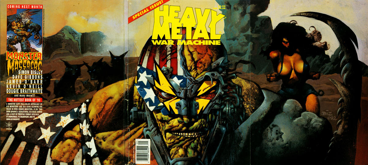 Cover for Heavy Metal Special Editions (Metal Mammoth, Inc., 1992 series) #v7#1 - War Machine