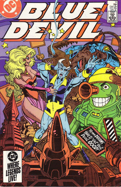 Cover for Blue Devil (DC, 1984 series) #11 [Direct Edition]