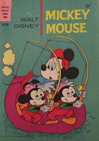 Cover for Walt Disney's Mickey Mouse (W. G. Publications; Wogan Publications, 1956 series) #209