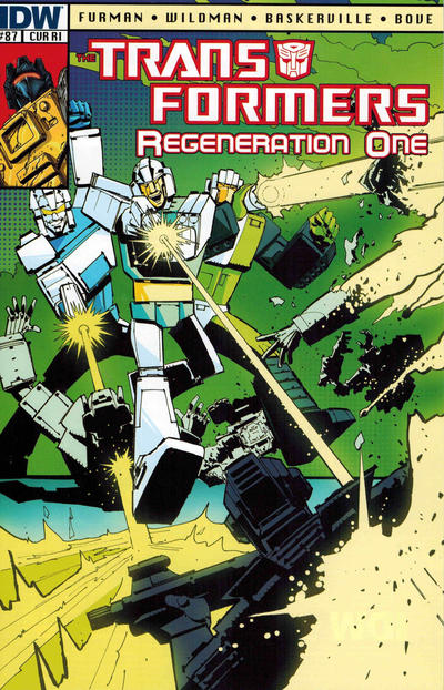 Cover for Transformers: Regeneration One (IDW, 2012 series) #87 [Cover RI - Incentive Geoff Senior Variant]
