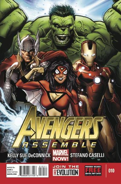 Cover for Avengers Assemble (Marvel, 2012 series) #10