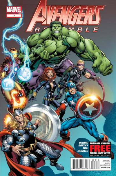 Cover for Avengers Assemble (Marvel, 2012 series) #3 [Second Printing Variant]
