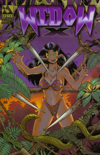 Cover for Widow X (Avatar Press, 1999 series) #1 [Regular edition]