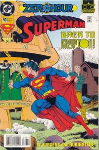 Cover Thumbnail for Superman (DC, 1987 series) #93 [Direct Sales]