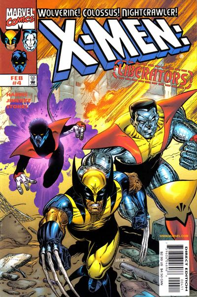 Cover for X-Men: Liberators (Marvel, 1998 series) #4 [Direct Edition]