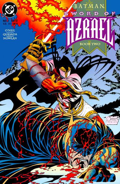 Cover for Batman: Sword of Azrael (DC, 1992 series) #2