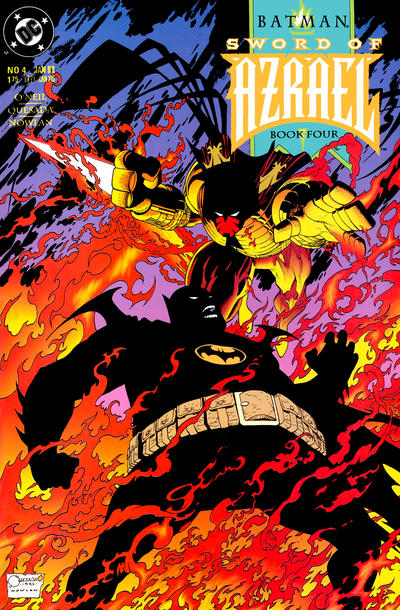 Cover for Batman: Sword of Azrael (DC, 1992 series) #4