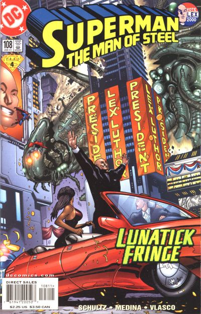 Cover for Superman: The Man of Steel (DC, 1991 series) #108