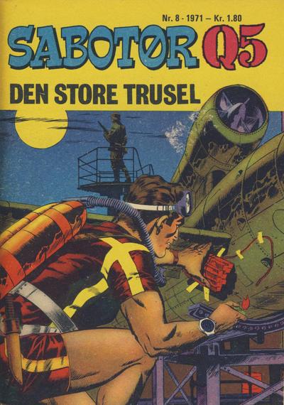 Cover for Sabotør Q5 (Serieforlaget / Se-Bladene / Stabenfeldt, 1971 series) #8/1971