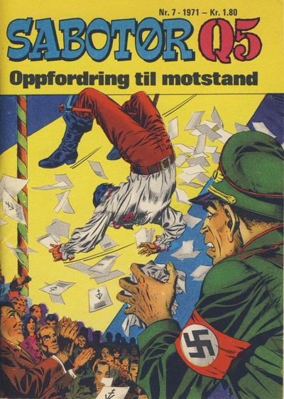 Cover for Sabotør Q5 (Serieforlaget / Se-Bladene / Stabenfeldt, 1971 series) #7/1971
