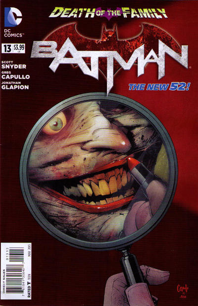 Cover for Batman (DC, 2011 series) #13 [Third Printing]
