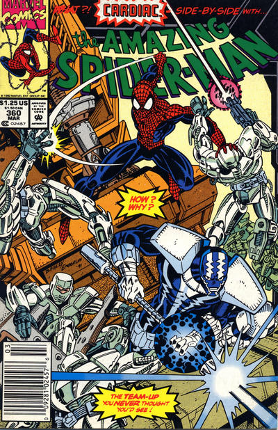 Cover for The Amazing Spider-Man (Marvel, 1963 series) #360 [Australian Price Variant]