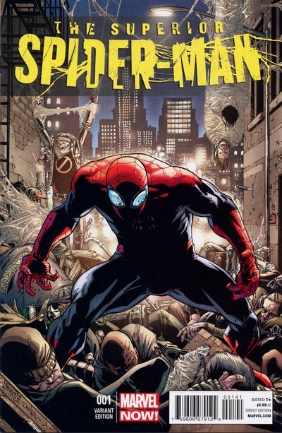 Cover for Superior Spider-Man (Marvel, 2013 series) #1 [Joe Quesada Variant Cover]