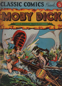 Cover Thumbnail for Classic Comics (Gilberton, 1941 series) #5 - Moby Dick [HRN 10]