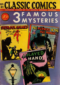 Cover Thumbnail for Classic Comics (Gilberton, 1941 series) #21 - 3 Famous Mysteries