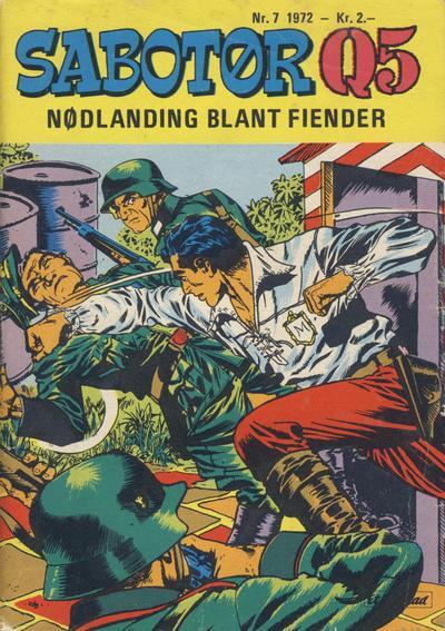 Cover for Sabotør Q5 (Serieforlaget / Se-Bladene / Stabenfeldt, 1971 series) #7/1972