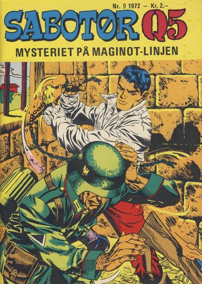 Cover for Sabotør Q5 (Serieforlaget / Se-Bladene / Stabenfeldt, 1971 series) #9/1972