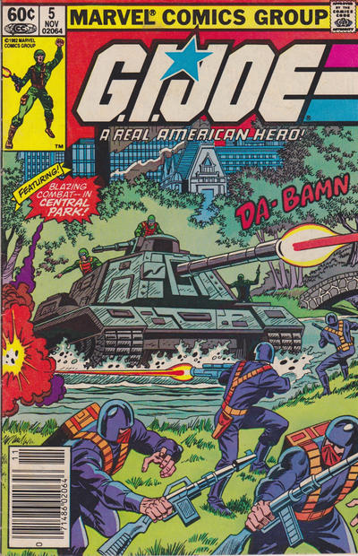 Cover for G.I. Joe, A Real American Hero (Marvel, 1982 series) #5 [Direct Edition]