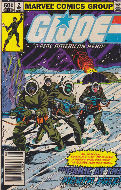 Cover for G.I. Joe, A Real American Hero (Marvel, 1982 series) #2 [Newsstand Edition]
