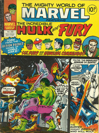 Cover for The Mighty World of Marvel (Marvel UK, 1972 series) #258