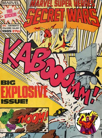 Cover for Marvel Super Heroes Secret Wars (Marvel UK, 1985 series) #5
