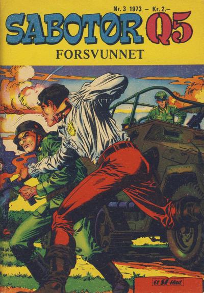 Cover for Sabotør Q5 (Serieforlaget / Se-Bladene / Stabenfeldt, 1971 series) #3/1973