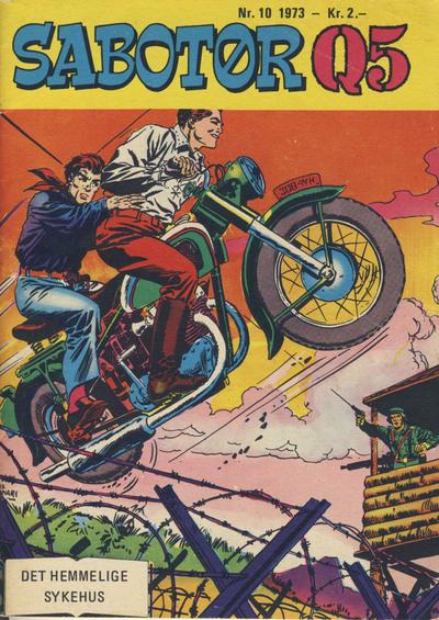 Cover for Sabotør Q5 (Serieforlaget / Se-Bladene / Stabenfeldt, 1971 series) #10/1973