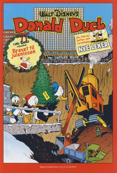 Cover for Bilag til Donald Duck & Co (Hjemmet / Egmont, 1997 series) #51-52/2012