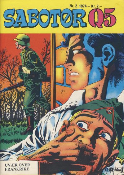 Cover for Sabotør Q5 (Serieforlaget / Se-Bladene / Stabenfeldt, 1971 series) #2/1974