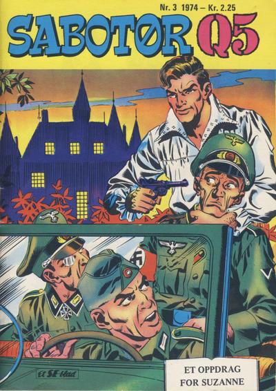 Cover for Sabotør Q5 (Serieforlaget / Se-Bladene / Stabenfeldt, 1971 series) #3/1974