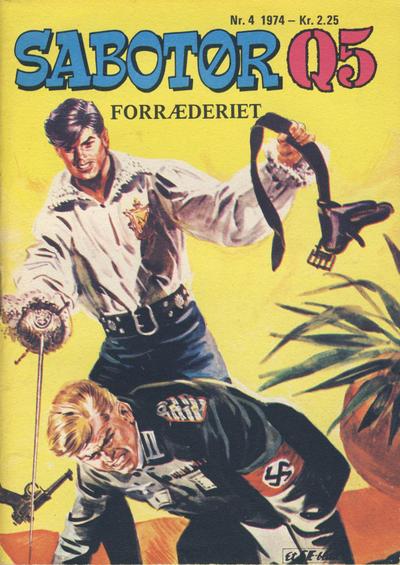 Cover for Sabotør Q5 (Serieforlaget / Se-Bladene / Stabenfeldt, 1971 series) #4/1974