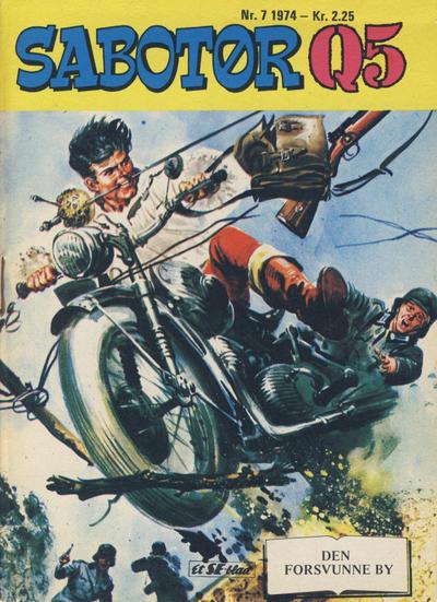 Cover for Sabotør Q5 (Serieforlaget / Se-Bladene / Stabenfeldt, 1971 series) #7/1974