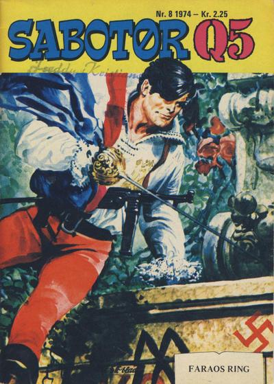 Cover for Sabotør Q5 (Serieforlaget / Se-Bladene / Stabenfeldt, 1971 series) #8/1974