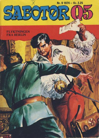 Cover for Sabotør Q5 (Serieforlaget / Se-Bladene / Stabenfeldt, 1971 series) #9/1974