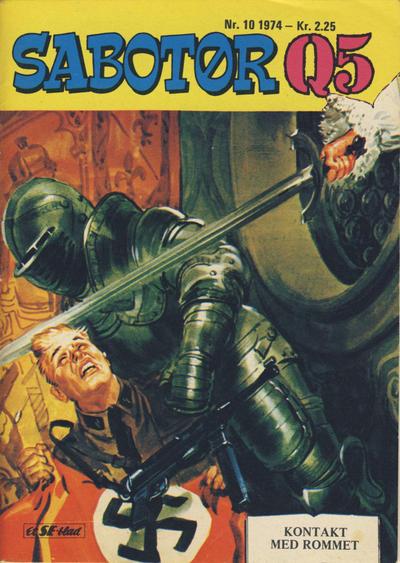 Cover for Sabotør Q5 (Serieforlaget / Se-Bladene / Stabenfeldt, 1971 series) #10/1974