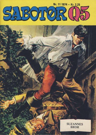 Cover for Sabotør Q5 (Serieforlaget / Se-Bladene / Stabenfeldt, 1971 series) #11/1974