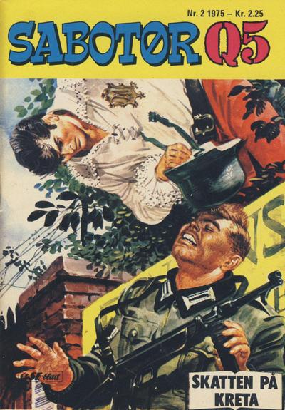 Cover for Sabotør Q5 (Serieforlaget / Se-Bladene / Stabenfeldt, 1971 series) #2/1975