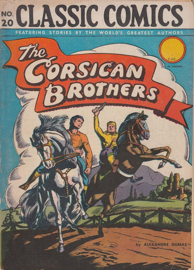 Cover for Classic Comics (Gilberton, 1941 series) #20 - The Corsican Brothers [HRN 22]